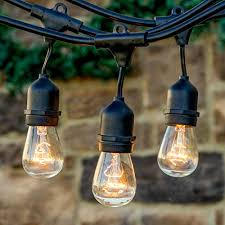 Edison Bulb Patio String Lights Ambience Pro 11s14 Edison Bulbs Direct