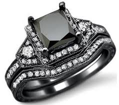 Black And Pink Wedding Rings by Black Wedding Engagement Ring Fair Black Wedding Rings For Her