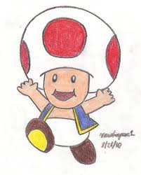 toad mario drawing