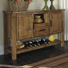 Dining Room Furniture Server Farmhouse Rustic Dining Room Server With Wine Rack Ruby Gordon