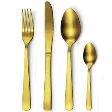 dishwasher safe stainless steel matte finish rose gold spoon fork