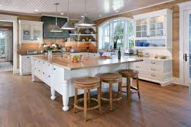 l shaped island in kitchen antique beam sawn oak traditional kitchen other by