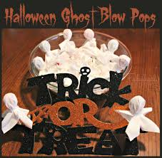 halloween ghost blow pops