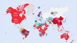 Google Map Of The World by Check Out This Map Of The World U0027s Most Googled Car Brands The