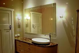 Frameless Bathroom Mirror Wonderful Frameless Wall Mirrors Art Deco Bathroom Kitchen Within