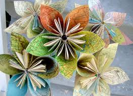 elegant flowers made from recycled paper recycled things