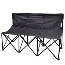 outdoor folding portable 3 seater camping beach bench chair buy