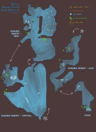 Desert Map Auronlu Map Of Bikanel Island Ffx