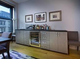 Living Room Bar Gray Contemporary Living Room Vanessa Deleon Hgtv