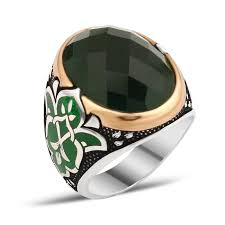 men ring designs silver men rings with green zircon boutique ottoman high end