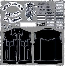 Sons Anarchy Costume Halloween Soa Patches Sons Anarchy Leather Cut Vest