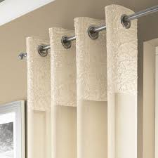 madeira luxury crushed curtain panel with grommets and