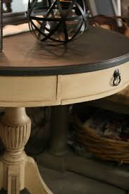 Chalk Paint Furniture Images by Reloved Rubbish Leather Topped Table Chalk Paint Makeover