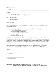 Certified Mail Letter Template Collector Cover Letters