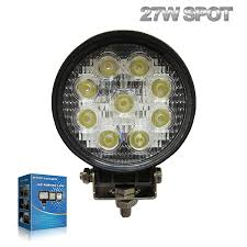 round led lights for jeep amazon com 27w round led work light l off road high power atv