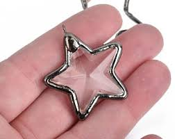 glass star pendant necklace images Drop pendant etsy jpg