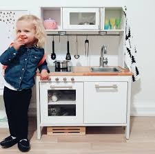 ikea kitchen hack ikea hack play kitchen all white with butcherblock countertop