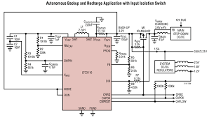 solutions supercap backup circuit provides reliable high current