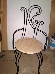 chaises en fer forgé en fer forgé