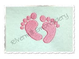baby footprints machine embroidery design