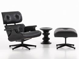 Black And White Chair And Ottoman Design Ideas Furniture Eames Lounge Chair And Ottoman All Black At Nest Co Uk