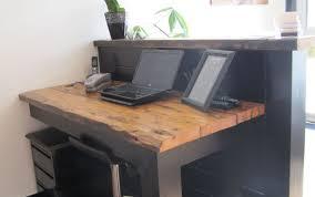 Two Person Reception Desk Splendid Art Industrial Wood Desk Famous School Desk Momentous