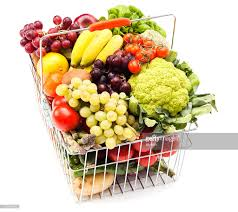 shopping basket with fruits and vegetables stock photo getty images