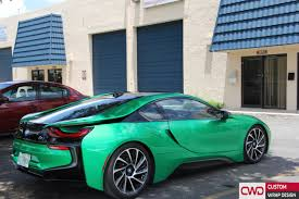 matte bmw i8 bmw i8 gloss envy green wrap
