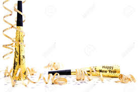 new years streamers new years party noisemaker border with confetti and streamers