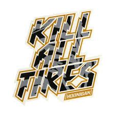 hoonigan racing logo hoonigan kill all tires sticker black and gold