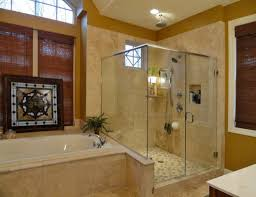 attractive walk plus shower bathroom designs along with small