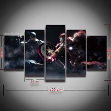 compare prices on captain america vs iron man wall art online