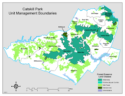 Forest Park Map Catskill Park Unit Management Boundaries Nys Dept Of