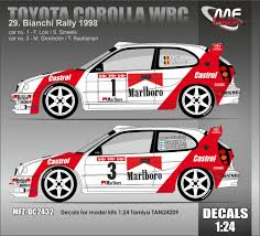 toyota rally car 1 24 toyota corolla wrc loix gronholm 29 bianchi rally 1998