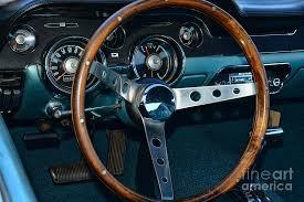 mustang steering wheels 1968 mustang fastback steering wheel photograph by paul ward