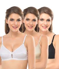 buy lady lyka multi color cotton non padded bra pack of 3 online