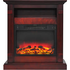 sienna 34 in electric fireplace w enhanced log display and