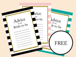 Advice Cards For The Bride Free Printable Bridal Shower Advice Cards For The Bride To Be