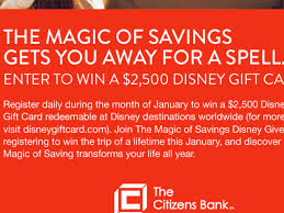 how to win gift cards win a 2 500 disney gift card