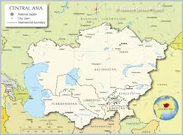 Political Map Asia by Political Map Of Central Asia And Caucasus