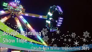joseph manning s show time hyde park winter 2015