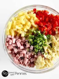 cold pasta dish hawaiian pasta salad spend with pennies
