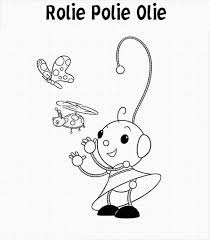 rolie polie olie sister play butterfly ladybug coloring