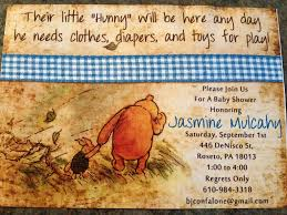baby shower invitations free classic winnie the pooh baby shower