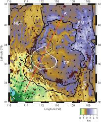 Arizona Elevation Map by Elevation Map Of The Colorado Plateau The Map Shows Figure 1