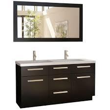 design element bathroom vanities design element moscony 60 in w x 22 in d vanity espresso