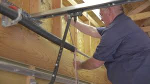 replace spring on garage door how to replace garage door springs done by a professional youtube