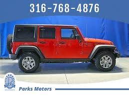 jeep red 2017 2017 jeep wrangler unlimited rubicon augusta ks 18815811