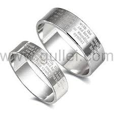 personalized engraved rings personalized engravable new testament bible couples rings