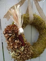 autumn wreath moss wreath square wreath natural wreath yarrow